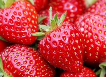 Deksels dagje met aardbeien