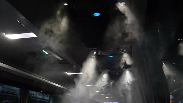 Luchtcirculatie aan boord van touringcar